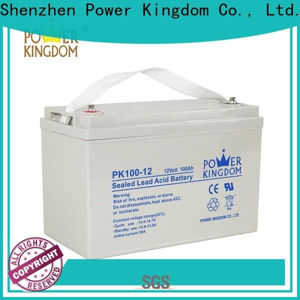 Power Kingdom New agm sealed lead acid battery for business solar and wind power system
