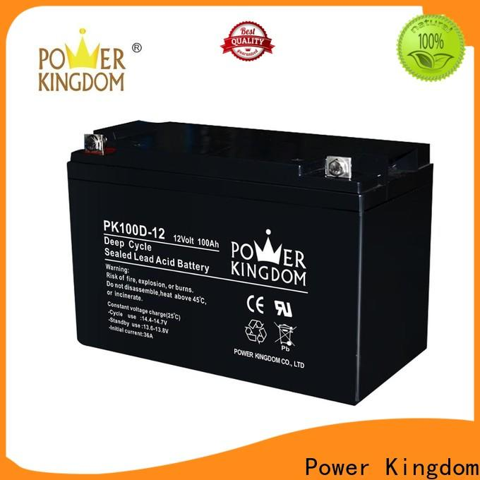 Power Kingdom 12v agm car battery with good price solar and wind power system
