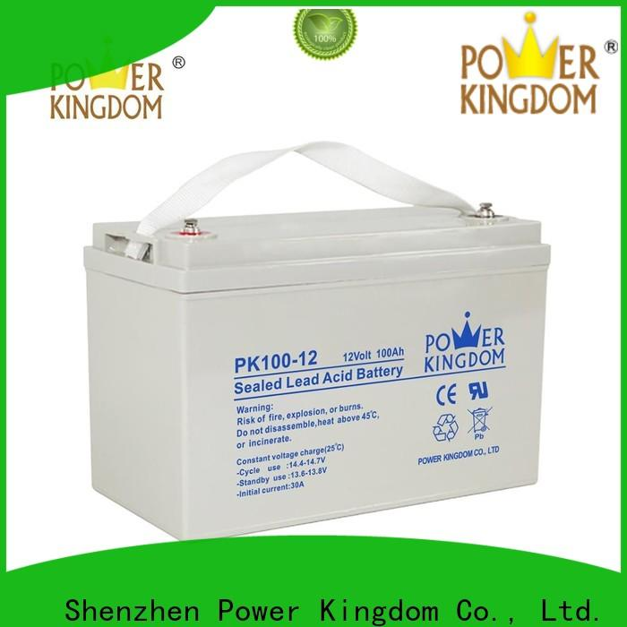 Power Kingdom Latest agm battery low voltage Suppliers solar and wind power system