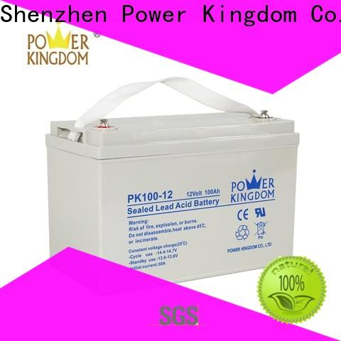 Power Kingdom mechanical operation 90ah agm battery for business solar and wind power system