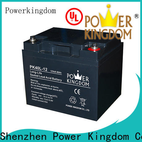 Power Kingdom gel acid battery factory price solar and wind power system