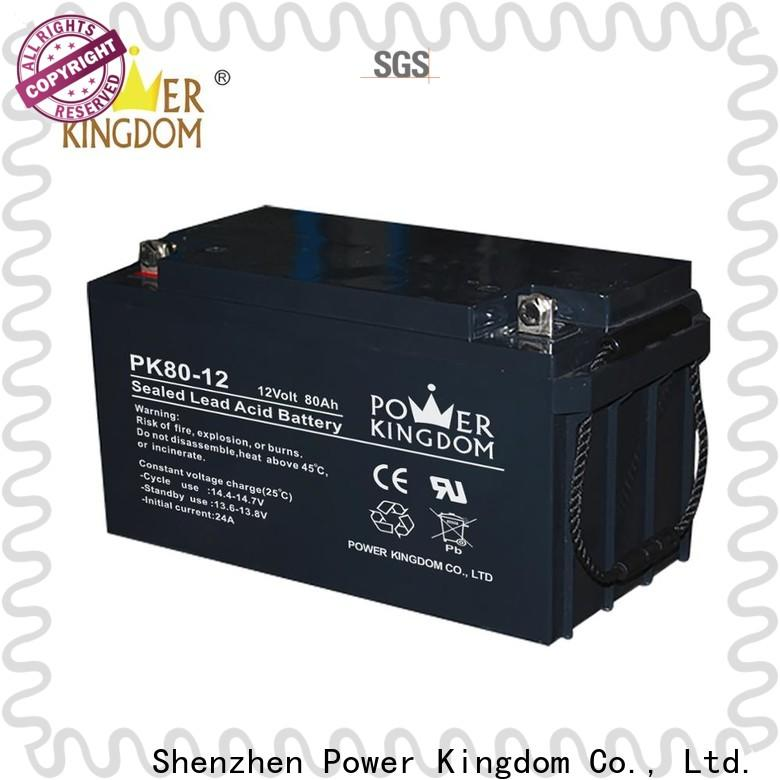 Power Kingdom agm deep cycle batteries for sale for business solar and wind power system
