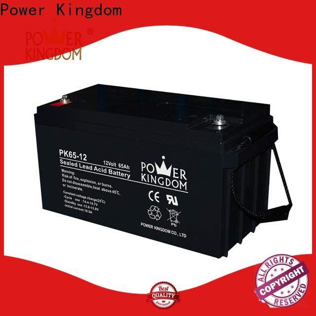 Power Kingdom Latest 130 amp deep cycle battery with good price solar and wind power system