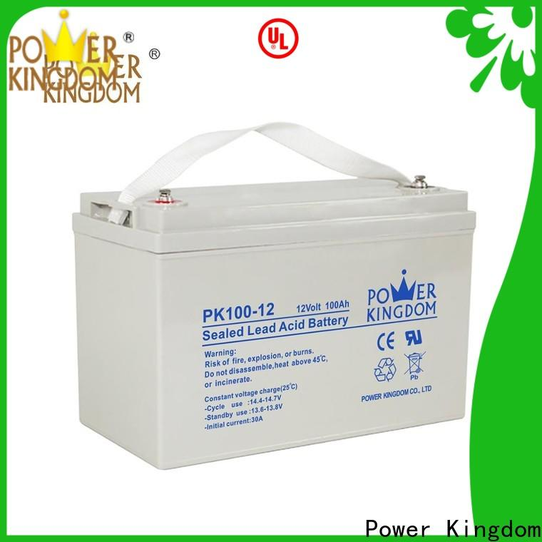Power Kingdom Best charging gel battery deep cycle directly sale solar and wind power system
