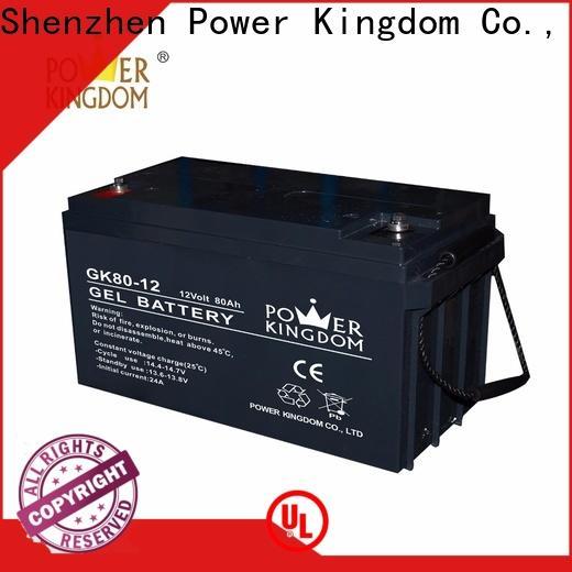 Power Kingdom sealed 12v deep cycle battery directly sale