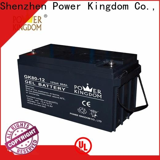 Power Kingdom sealed 12v deep cycle battery directly sale