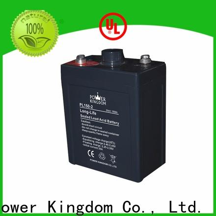 Power Kingdom 12v agm car battery factory price fire system