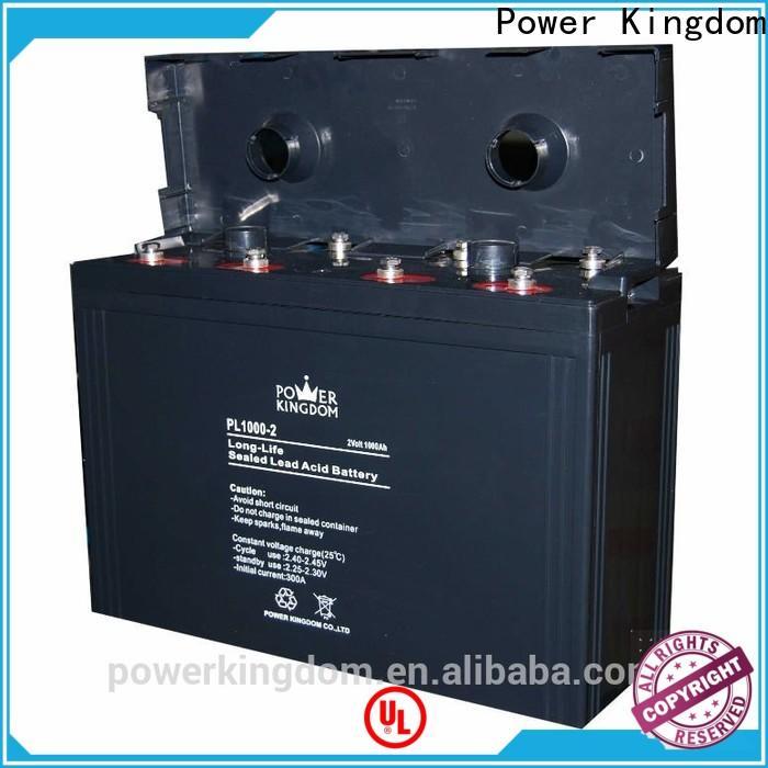 Power Kingdom solar gel battery price directly sale fire system