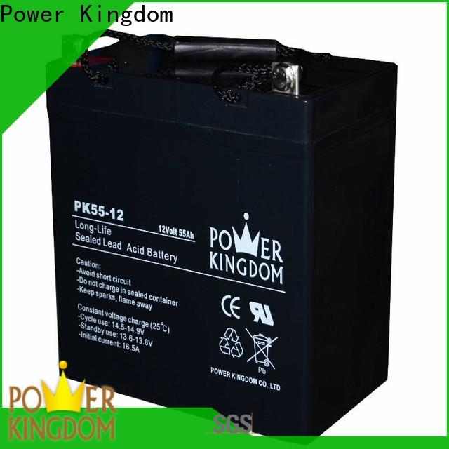 Power Kingdom poles design agm deep cycle marine battery supplier deep discharge device