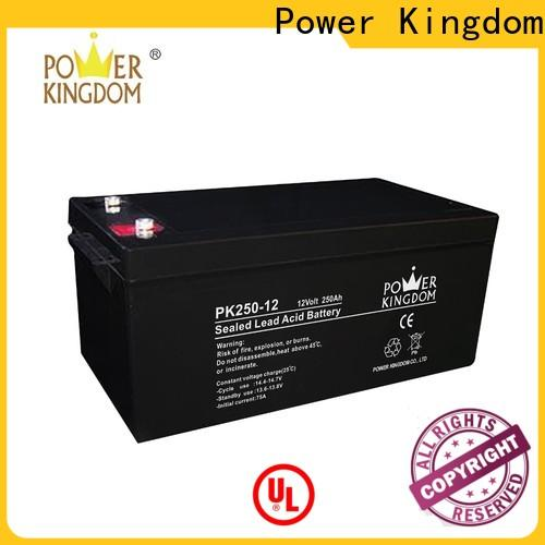 Power Kingdom Heat sealed design deep cycle gel battery solar factory price wind power systems