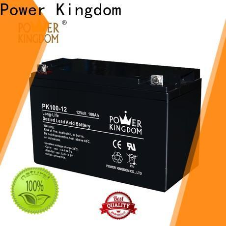 Power Kingdom Heat sealed design agm 35ah deep cycle battery company