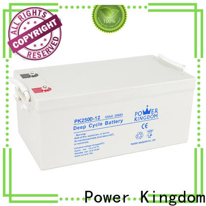 Power Kingdom Top agm 35ah deep cycle battery factory price wind power systems