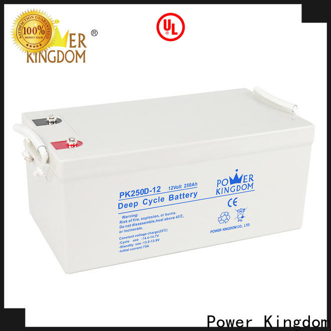 Power Kingdom Heat sealed design 6 volt agm battery prices factory vehile and power storage system