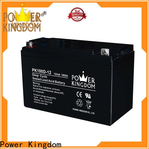 Power Kingdom cycle 120ah agm battery company