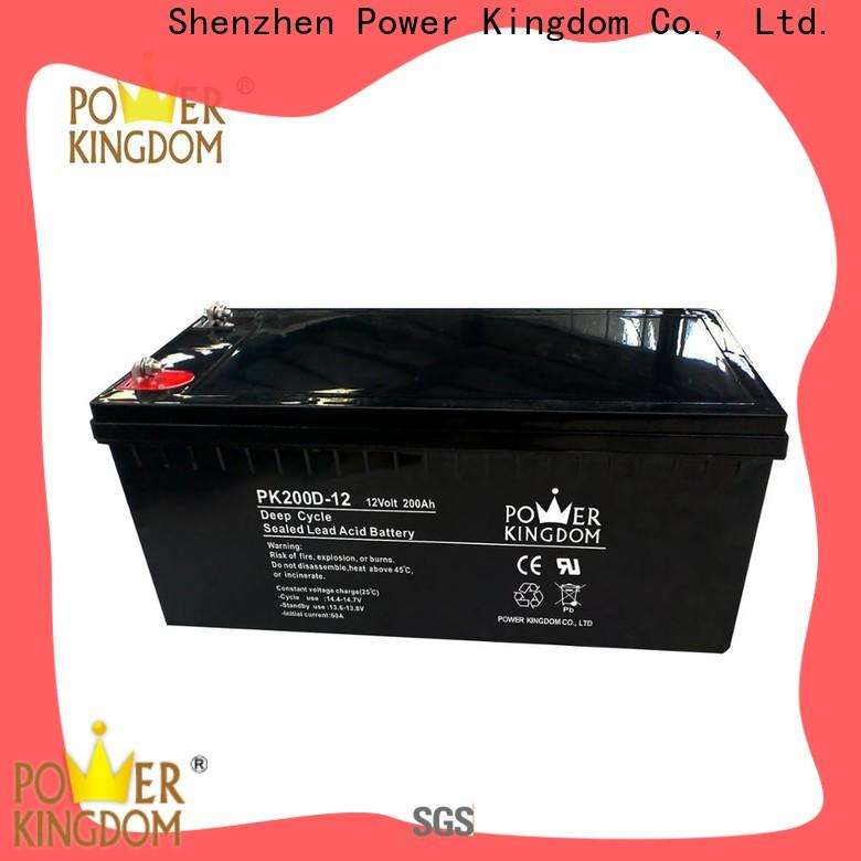 Power Kingdom 4d agm battery factory price wind power systems