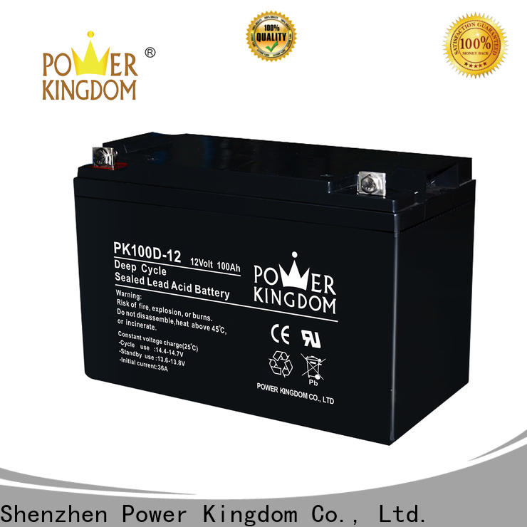 Power Kingdom Heat sealed design 120 amp agm battery supplier