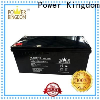 Power Kingdom poles design maintenance free deep cycle battery supplier