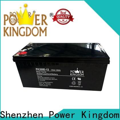 Power Kingdom solar deep cell batteries for sale personalized vehile and power storage system