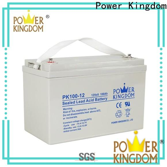 Power Kingdom Heat sealed design 12 volt deep cycle battery for solar company vehile and power storage system