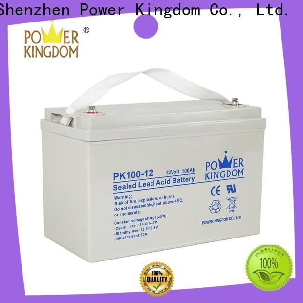 Power Kingdom charging gel battery deep cycle manufacturers vehile and power storage system