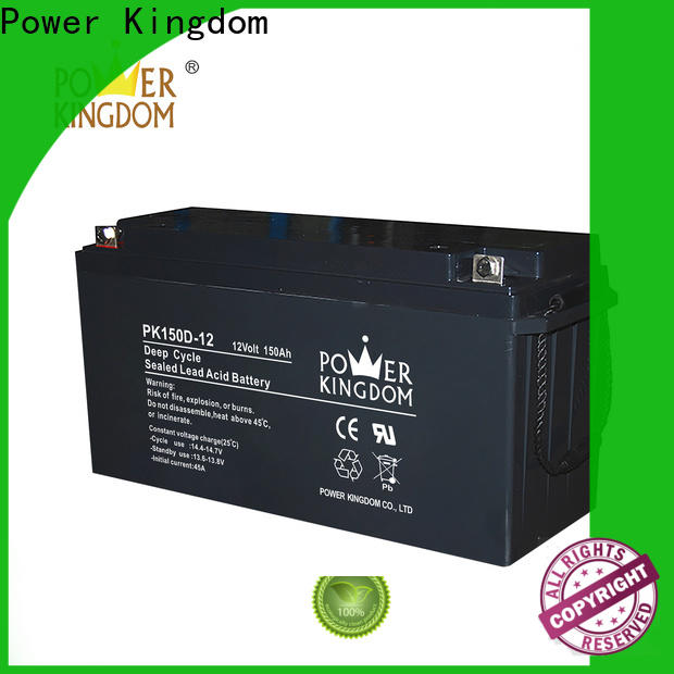 Power Kingdom 130ah agm deep cycle battery supplier deep discharge device
