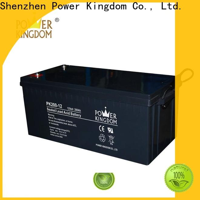 Power Kingdom Heat sealed design 80 amp deep cycle battery supplier vehile and power storage system