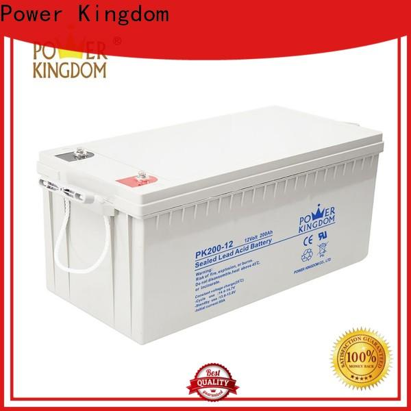 Power Kingdom no electrolyte leakage 12v deep cycle battery for sale manufacturers