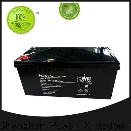 Power Kingdom Heat sealed design lead acid solar battery wholesale wind power systems