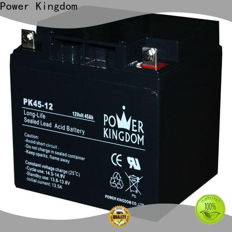 Power Kingdom deep cycle sla battery 12v factory deep discharge device