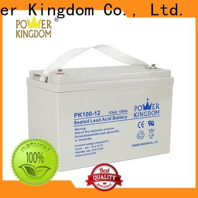 Power Kingdom 12v 100 amp hour deep cycle battery supplier deep discharge device