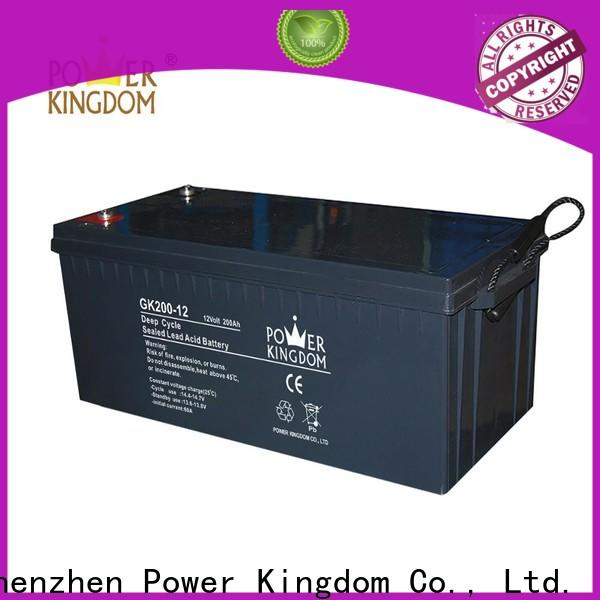 Power Kingdom flooded lead acid battery factory price