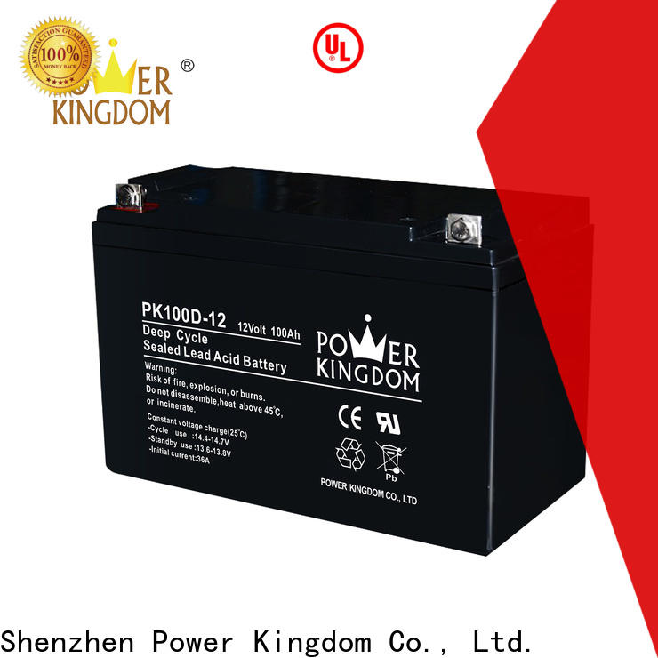 Power Kingdom 12 volt deep cycle battery for solar for business