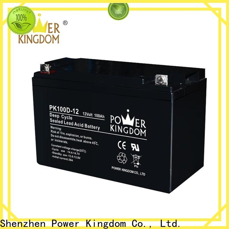 Power Kingdom Latest 100ah deep cycle battery sale for business deep discharge device