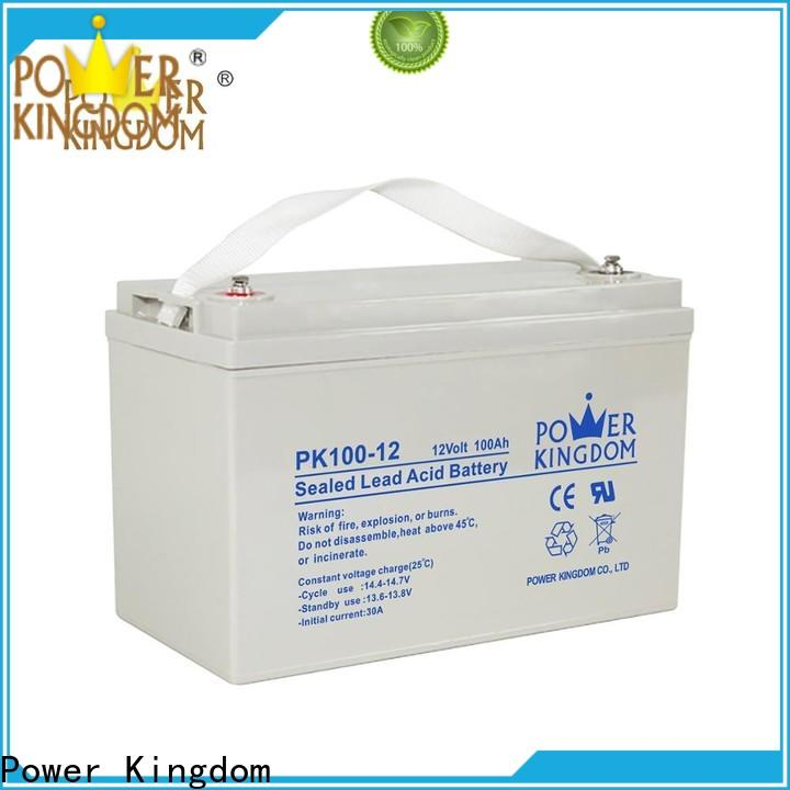Power Kingdom Custom 12 volt deep cycle battery for solar for business vehile and power storage system