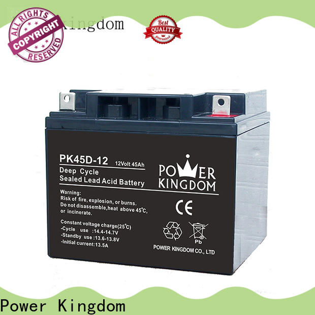 Power Kingdom New 12 volt deep cycle marine battery prices factory price deep discharge device