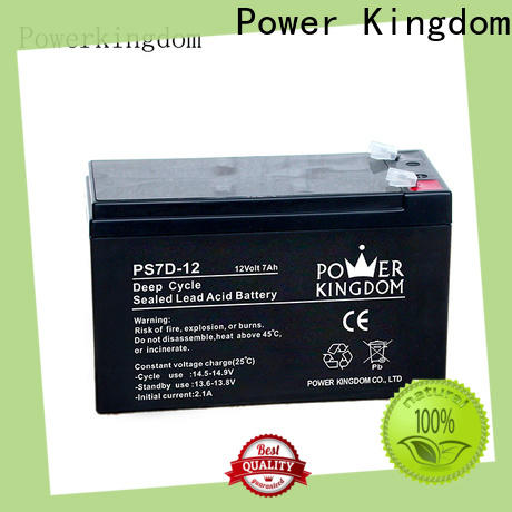 Power Kingdom no electrolyte leakage 130ah agm deep cycle battery Supply wind power systems
