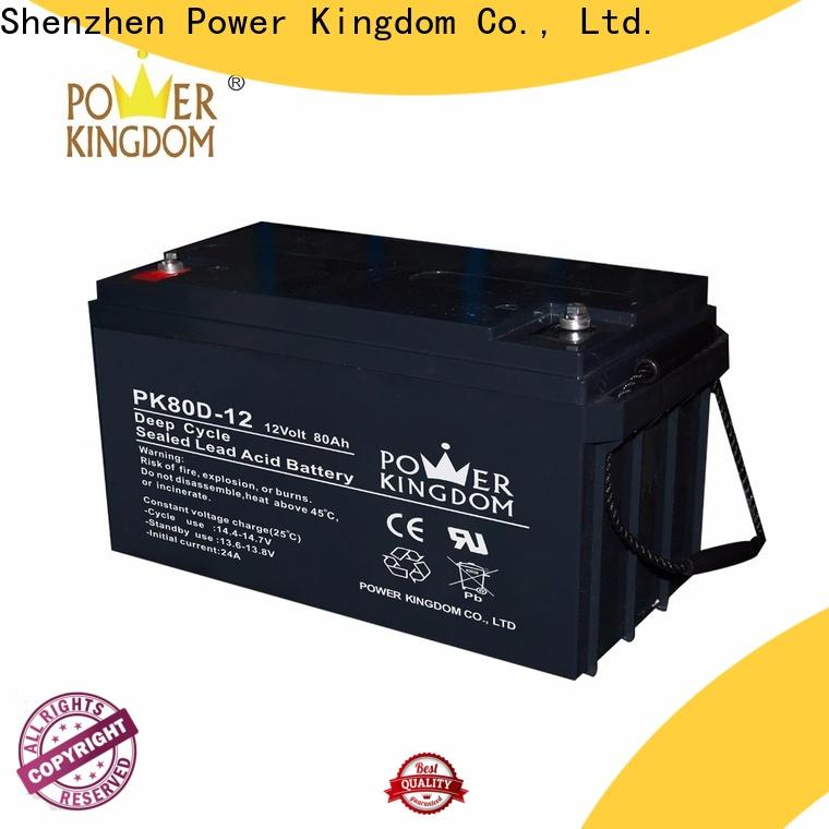 Power Kingdom top rated deep cycle battery factory price