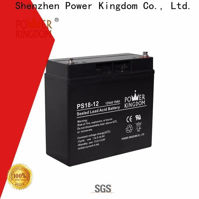 Power Kingdom 125ah 12v agm deep cycle battery factory price