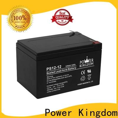 Power Kingdom Heat sealed design 12 volt deep cycle battery 100ah company vehile and power storage system