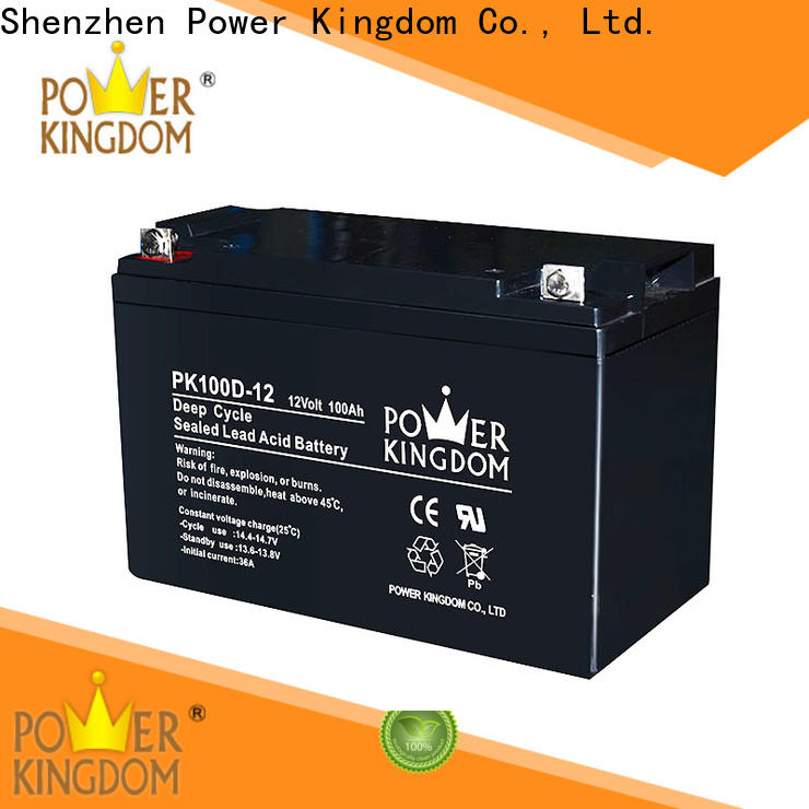 Power Kingdom Best charging gel cell deep cycle batteries personalized vehile and power storage system