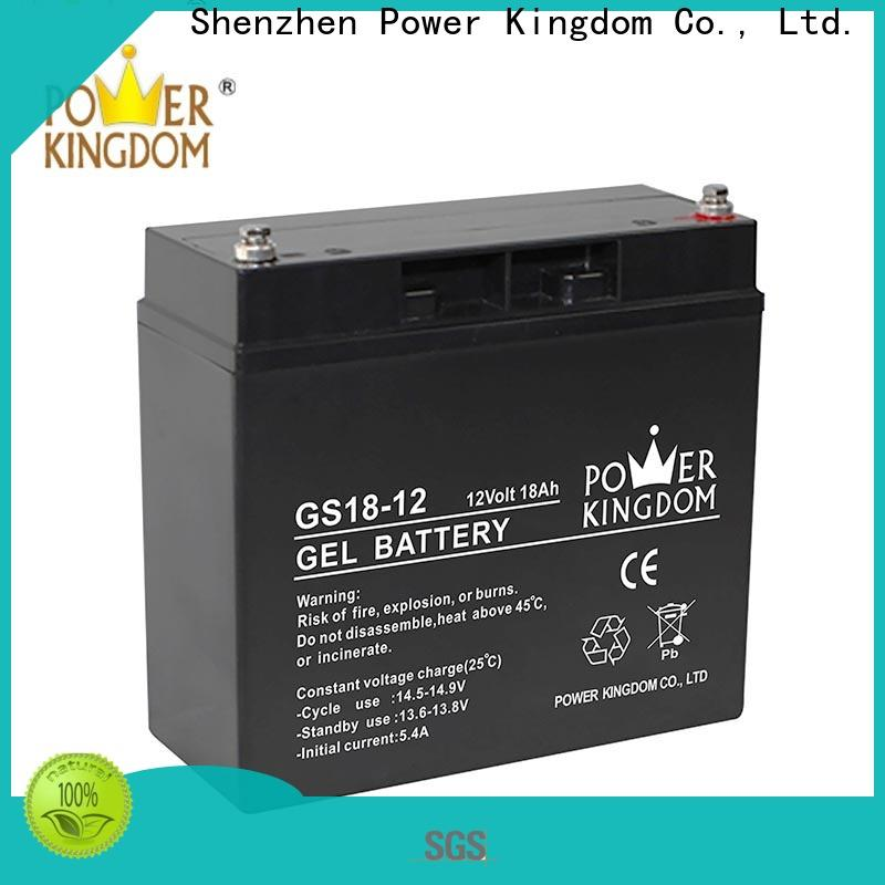 Power Kingdom advanced agm batteries factory price fire system