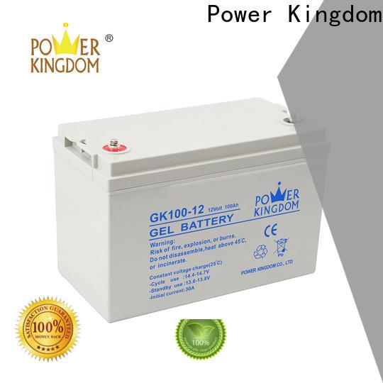 Power Kingdom 12v lead acid car battery with good price wind power system
