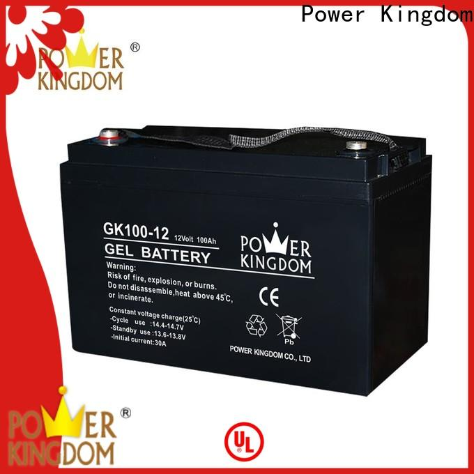 Power Kingdom Latest 100ah lead acid battery price for business wind power system