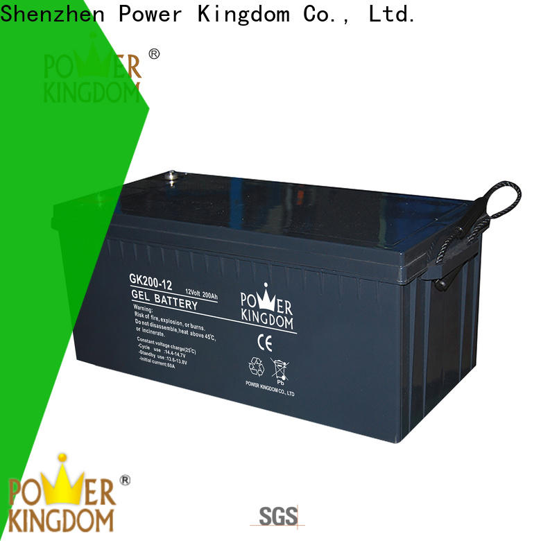 Power Kingdom sealed lead acid rechargeable battery 6v 4ah company solor system