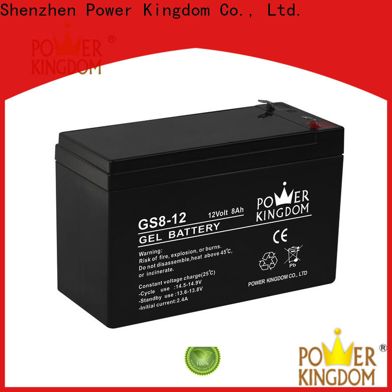 Power Kingdom sealed lead calcium battery Suppliers medical equipment