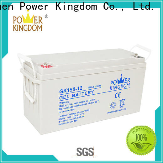 Power Kingdom rechargeable 12v 7ah sealed battery factory solor system