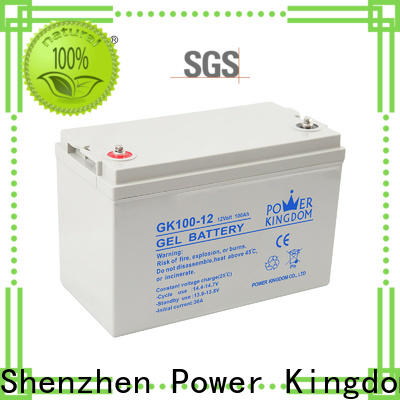 Power Kingdom higher specific energy sealed lead calcium battery with good price wind power system