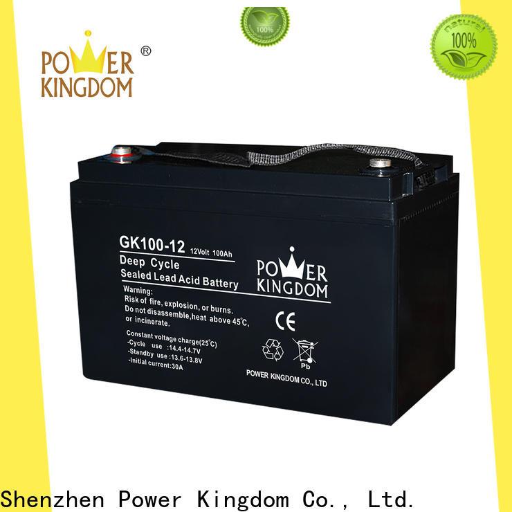 Power Kingdom 12v 12ah sealed lead acid battery rechargeable design wind power system