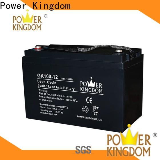 Power Kingdom Top 6v 10ah lead acid battery factory wind power system