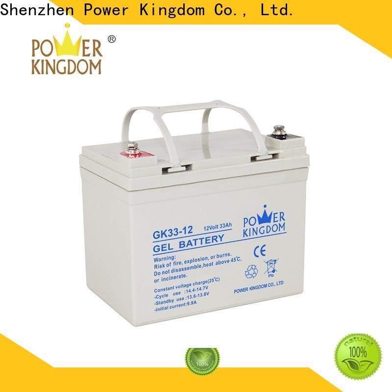 Power Kingdom lead acid battery specs design solor system
